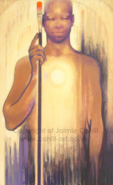 Warrior With A Paintbrush © Jaimie Cahlil